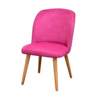 Livien Furniture Stool Minimalis Shabby Issabel Chair - Magentha