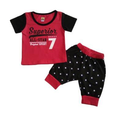 GLOWFish STB193 Kaos Setelan Pakaian Anak Laki-laki [Usia 0-4 Tahun]