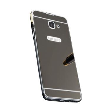 QCF Bumper Mirror Sliding Alumunium Metal Hardcase Casing for Samsung Galaxy A5 2017 A520 - Hitam