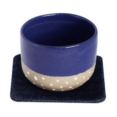 Kaloka Pottery Sea Blue Cup & Denim ... gkapan Minum Kopi [2 pcs]