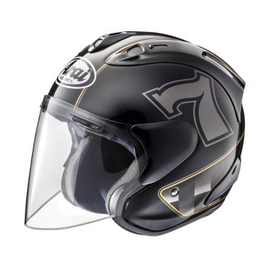 Arai SZ RAM 5 Cafe Racer Helm Half Face - Black