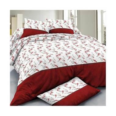 Beglance Microtex Sabrina Bed Sheet Set Sprei