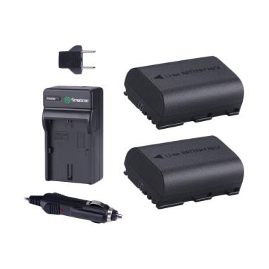 Smatree 2-Pack Battery and Charger for Canon LP-E6 or LP-E6N