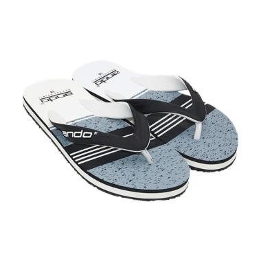 Ando Grafitty Sandal Jepit Pria - Black-White [06]