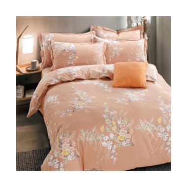 Beglance Cotton Cranberry Bed Sheet Set Sprei - Orange
