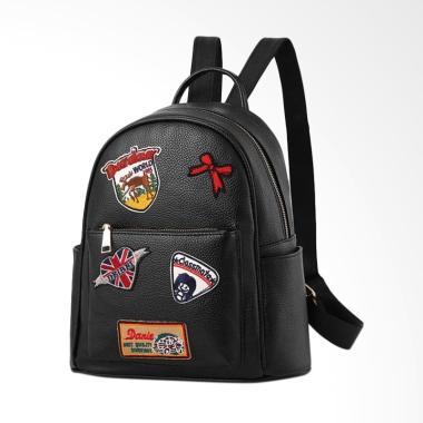 Purnama Import PU New Model Backpack Tas Ransel Wanita - Black