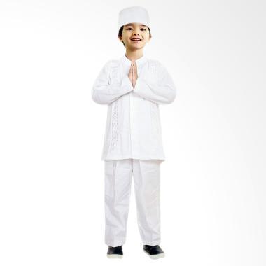 FAYRANY FKP-004A Setelan Baju Koko Anak - Putih