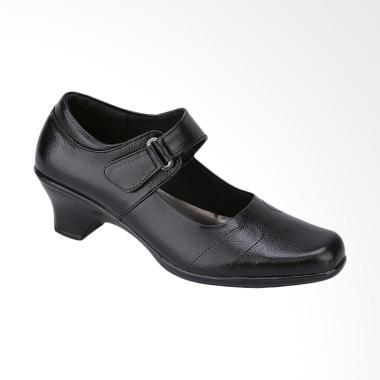 Syaqinah 369 Kulit Sepatu Heels Formal Wanita - Hitam