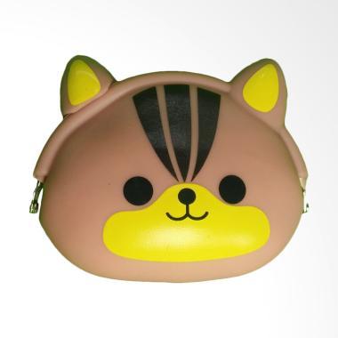 KarnaKamu Silicone Jelly Karakter Imut Brown Cat Dompet Koin
