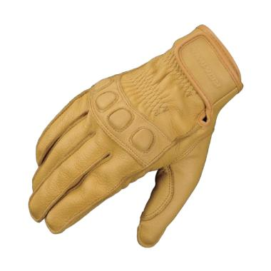 KOMINE GK-720 Vintage Leather Gloves Sarung Tangan Motor - Beige