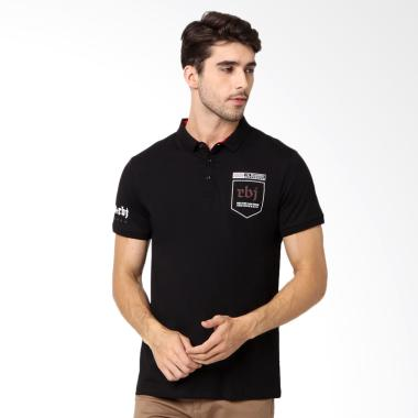 RBJ Kaos Kerah Polo Shirt - Hitam [256750171]