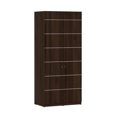 Pro Design NN Vegas 2 Pintu Lemari Pakaian - Brown Walnut