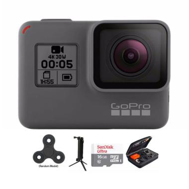 GoPro Hero 5 Combo 3 Way Deluxe 16 GB Spin Action Camera - Black