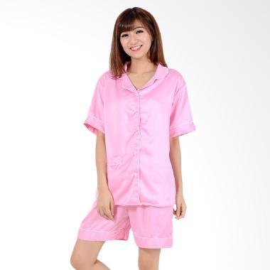 Okechuku Setelan Piyama Pakaian Tidur Wanita - Pink