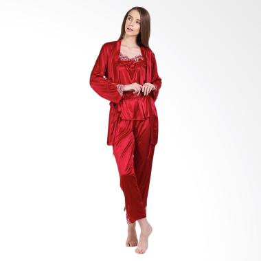 You've 999116 Kimono Shali Piyama Setelan Baju Tidur Wanita - Maroon
