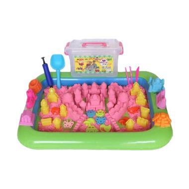 Model Sand Kinetik Super Jumbo Mainan Pasir - Pink [2 kg]