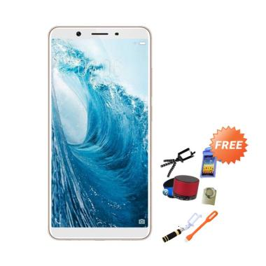 Vivo Y71 Smartphone - Gold [32GB/ 3GB] + Free 8 Item's