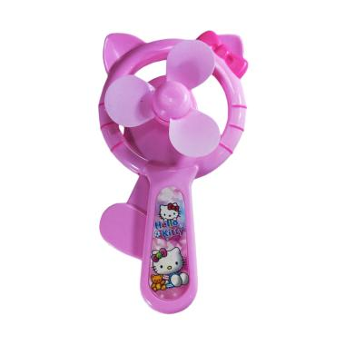 Yangunik 881 Karakter Mini Fan Kipas Angin Tangan Manual - Pink