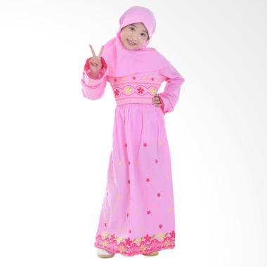Jesca and Paul 212 Selma Gamis Baju Muslim Anak - Pink