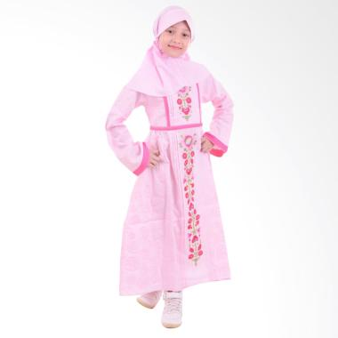 Jesca and Paul Milea 221 Gamis Baju Muslim Anak - Pink