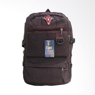 OEM Backpack Distro Tas Ransel Pria - Coklat Tua