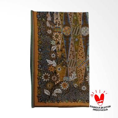 7Kav Batik Motif Tali Kendang Batik Cap - Brown Flower