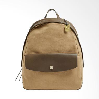 Skagen Aften Leather Backpack Olive Tas Wanita - Brown
