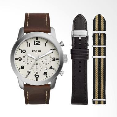 Fossil Pilot 54 Chronograph Watch Jam Tangan Pria [FS 5182SET]