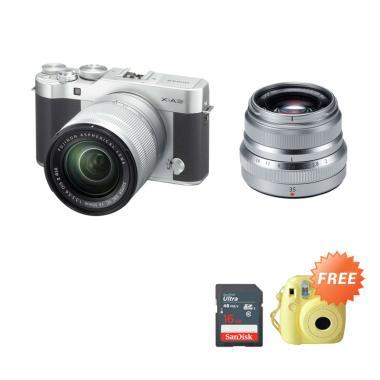 Fujifilm X-A3 Kit 16-50mm Kamera Mi ... stax Mini 8 & Memory 16GB