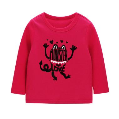 Mom n Bab Long Tee Claret Monster Baju Atasan Anak
