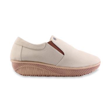 Catenzo AH061 Wedges Casual Sepatu Wanita - Cream 63c6036559
