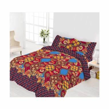 Vito Disperse Rumbai Ambarwati Set Sprei dan Bed Cover - Multicolor [Size King/ 180 x 200 cm]