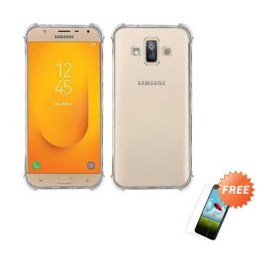 OEM ShockProof Casing for Samsung Galaxy J7 Duo J720 5.5 inch - Clear + Free Tempered Glass