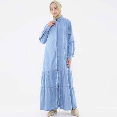Zahra Signature Denim Gia Long Dress Muslim Wanita