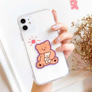 harga Kelontongunik - Oppo - Teddy Bear - Anti Crack iPhone Case- Clear Soft Case iPhone CORT-285 Oppo F7 Blibli.com