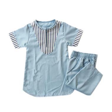 LANIEA Turki Garis Baju Koko Anak Laki Laki - Blue