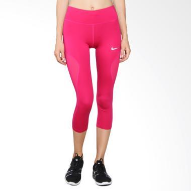 Nike As W Nk Pwr Crop Racer Cool Celana Lari Wanita - Pink 855145-607