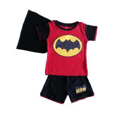Dessan Batman Bersayap Setelan Baju Anak - Red Black