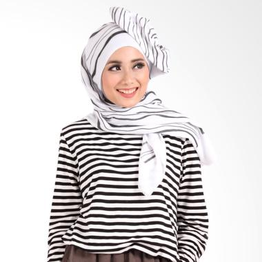 Helwa Tierack Hijab Pashmina - White