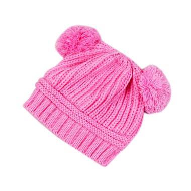 Arby Topi Bayi Rajut Ball Hat - Pink