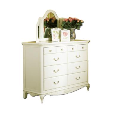 The Olive House Queen Anne Wide Drawer - White