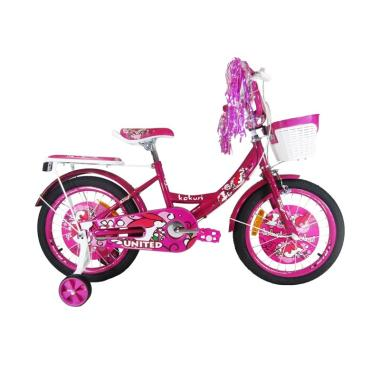 United Kokuri Sepeda Anak - Pink [18 inch]