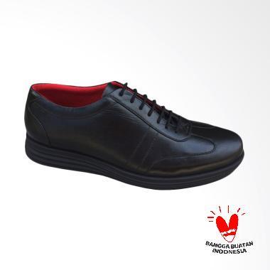 Yamanori Sepatu Sneaker Kulit - Hitam ORGK1