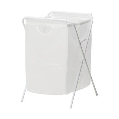 Ikea Jall Laundry Basket Bag - White