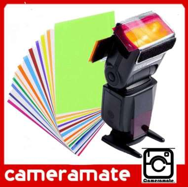 Filter Diffuser Lampu Flash Gel Warna Colour Flash Nikon Yongnuo Nissin Godox Fuji Sony Canon Speedlite