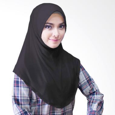 Milyarda Hijab Bergo Jersey Jilbab Instan - Hitam