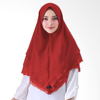 Milyarda Hijab Syari Khimar Alndra Hijab Instan - Merah
