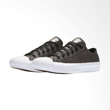 Converse 2 Chuck Taylor All Star Pe ... Ox Sneakers Shoes - Black