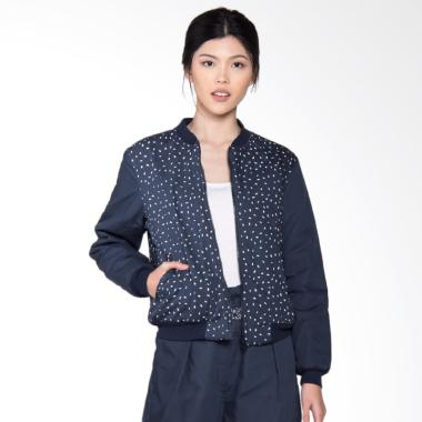 POP.U by Populo Batik JW7901 Beras  ... mber Jacket Wanita - Blue