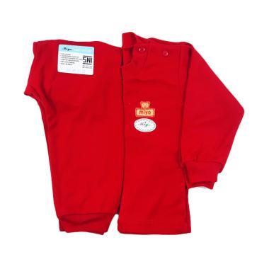 Miyo Oblong Panjang Dan Celana Setelan Bayi - Merah